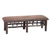 Fireside Lodge Hickory Leather Bedroom Bench