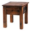 Fireside Lodge Barnwood  End Table