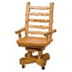Fireside Lodge Traditional Cedar Log High-Back Wood Bankers Chair