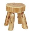 Fireside Lodge Traditional Cedar Log Ottoman