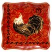 Certified International Tuscan Rooster Square Platter