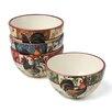 Certified International Lille Rooster by Geoffrey Allen Ice Cream Bowl (Set of 4)