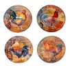 "Certified International Rustic Rooster 11.25"" 4 Piece Dinner Plate Set"