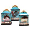 Certified International French Barnyard 3-Piece Canister Set