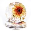 """Certified International Paris Sunflower 11"""" Dinner Plate (Set of 4)"""