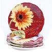 "Certified International Paris Sunflower 8.75"" Salad Plate (Set of 4)"