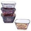 Certified International Grand Vin Ice Cream Bowl 4 Piece Set