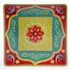 Certified International Tunisian Sunset Square Platter