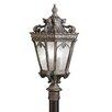 """Kichler Tournai 3 Light 12"""" Outdoor Post Lantern"""