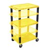H. Wilson Company Tuffy Height Adjustable Open Shelf AV Cart