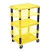 H. Wilson Company Tuffy Height Adjustable Open Shelf AV Cart