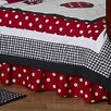 Little Ladybug Toddler Bed Skirt