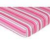 Sweet Jojo Designs Madison Striped Fitted Crib Sheet