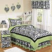 Sweet Jojo Designs Zebra Lime Kid Bedding Collection