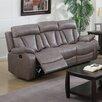 Chintaly Imports Modesto Bonded Leather Reclining Sofa