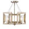 Golden Lighting Marco 4 Light Convertible Semi-Flush Mount