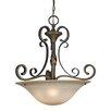 Golden Lighting Meridian 3 Light Bowl Inverted Pendant