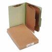 Acco Brands, Inc. Pressboard 25-Point Classification Folders, Lgl, 6-Section, Leaf GN, 10/box