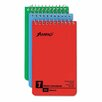 AMPAD Corporation Wirebound Pocket Memo Book, College/Narrow Rule, 3 x 5, WE, 60-Sheet, 3/pk (Set of 2)