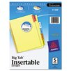 Avery Consumer Products Worksaver Big Tab Reinforced Dividers (5 Tabs) (Set of 6)