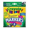 Crayola LLC Washable Poster Markers (8 Pack) (Set of 2)