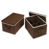 Badger Basket 2 Piece Folding Storage Basket Set