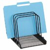 Rolodex Corporation Mesh Flip File Folder Sorter, 5 Sections, Black, 7 4/5 x 1 7/8 x 10 2/5