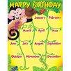 Trend Enterprises Monkey and Geckos Birthday Chart (Set of 3)