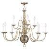 Livex Lighting Williamsburgh 12 Light Candle Chandelier