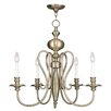 Livex Lighting Caldwell 4 Light Candle Chandelier