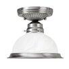 "Livex Lighting 6.25"" 1 Light Semi Flush Mount"