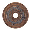 Livex Lighting Ceiling Medallion in Crackled Bronze with Vintage Stone Accents