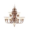 Livex Lighting Savannah Thirteen Light Chandelier in Venetian Patina