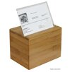 Oceanstar Design Bamboo Recipe Box with Divider