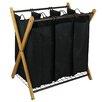 Oceanstar Design X-Frame Bamboo 3 Bag Laundry Sorter