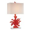 """Dimond Lighting Coral 28"""" H Table Lamp with Square Shade"""
