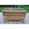 Oakland Living Resin Wicker Rectangle Coffee Table