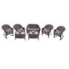 Oakland Living Resin Wicker 7 Piece Seating Group with Cushions