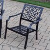 Oakland Living Stackable Deep Seating Chat Chair (Set of 4)
