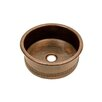 "Premier Copper Products 15"" Round Vessel Bathroom Sink"