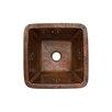 """Premier Copper Products Fleur De Lis 15"""" x 15"""" Square Copper Bar Sink"""