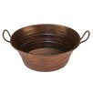Premier Copper Products Oval Bucket Vessel Sink