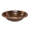 Premier Copper Products Oval Braid Self Rimming Bathroom Sink