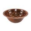 Premier Copper Products Round Braided Undermount Bathroom Sink