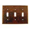 Premier Copper Products Copper Switchplate Triple Toggle Switch Cover in Oil Rubbed Bronze