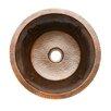 """Premier Copper Products Fleur De Lis 16"""" x 16"""" Round Copper Bar Sink"""
