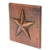 """Premier Copper Products 4"""" x 4"""" Hammered Copper Star Tile in Oil Rubbed Bronze (Set of 4)"""