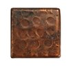 "Premier Copper Products 2"" x 2"" Hammered Copper Tile in Oil Rubbed Bronze (Set of 8)"