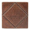 """Premier Copper Products 4"""" x 4"""" Hammered Copper Diamond Tile in Oil Rubbed Bronze (Set of 8)"""