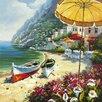 Yosemite Home Decor Revealed Artwork European Shoreline Original Painting on Wrapped Canvas